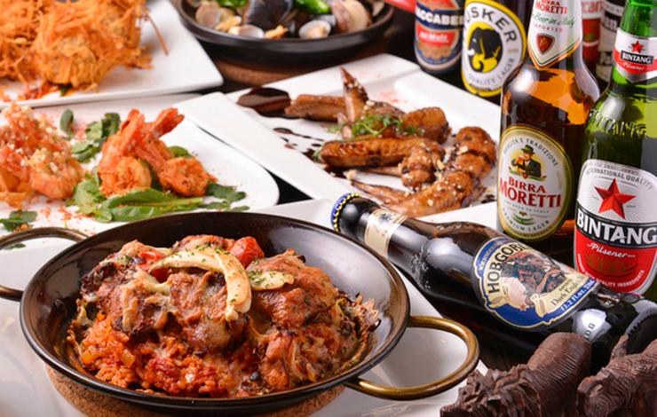【秋葉原】世界の料理とビールで「旅」がテーマのパーティー!