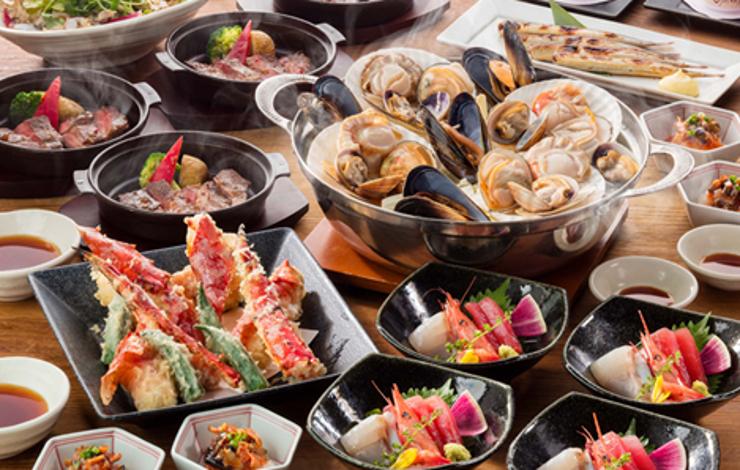 大人数宴会にも!北海道の贅沢食材を堪能する宴会コースあり!@池袋